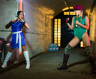 Sex Fighter: Chun Li vs. Cammy (XXX Parody) - Christen Courtney - Rina Ellis - 1
