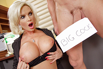 milf likes big cock The cum curious milf scolds Sergio for jacking off his huge cock right in front of  her.