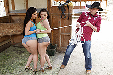 Katja Kassin & Luscious Lopez in Going Once, Going Twice... Buttsex! - Picture 1