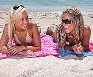 Blonde Beach Brats Get Blasted - Kacey Jordan - Kara Novak - 1