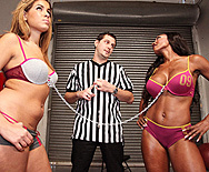Bra Tug of War - Diamond Jackson - Isis Taylor - 1