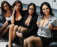 Office 4-Play - Francesca Le - Vanilla Deville - Ava Addams - Veronica Avluv - 1