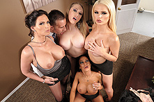 Alexis Ford, Angelina Valentine, Kagney Linn Karter, Phoenix Marie in Office 4-Play III - Picture 1