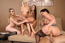 Alexis Ford, Angelina Valentine, Kagney Linn Karter, Phoenix Marie in Office 4-Play III - Picture 3