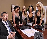 Office 4-Play III - Angelina Valentine - Phoenix Marie - Kagney Linn Karter - Alexis Ford - 1
