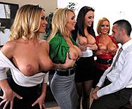 Office 4-Play: Christmas Edition! - Krissy Lynn - Tanya Tate - Chanel Preston - Nicole Aniston - 1