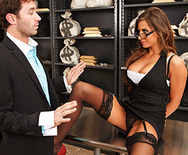 Tied Up and Spanked at the Bank - Madison Ivy - 1