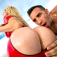 Wet Butt Sex Red Latex