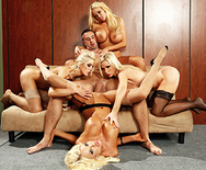 Office 4-play VI - Nikki Benz - Courtney Taylor - Summer Brielle - Nina Elle - 3