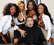 Office 4-Play VII: Ebony Babes - Anya Ivy - Diamond Jackson - Jade Aspen - Jasmine Webb - 1