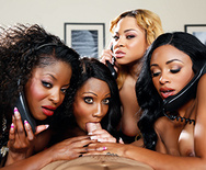 Office 4-Play VII: Ebony Babes - Diamond Jackson - Jasmine Webb - Jade Aspen - Anya Ivy - 2