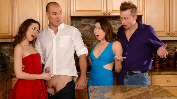 HD Brazzers Dinner For Sluts Riley Reid